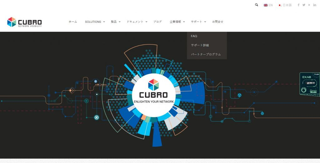 Cubro Japanese Website