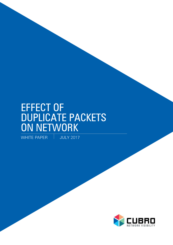 White Paper: effect of duplicate packets on network