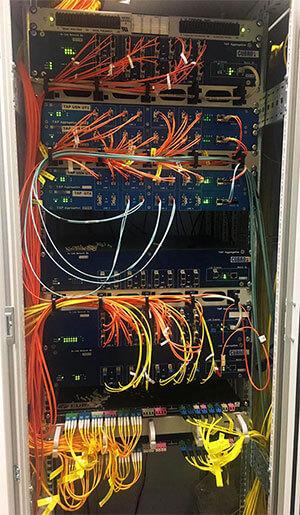 Cubro installation of optical aggregation