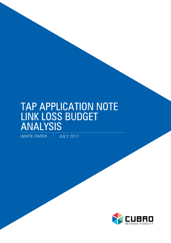 White paper: Link Loss Budget Analysis