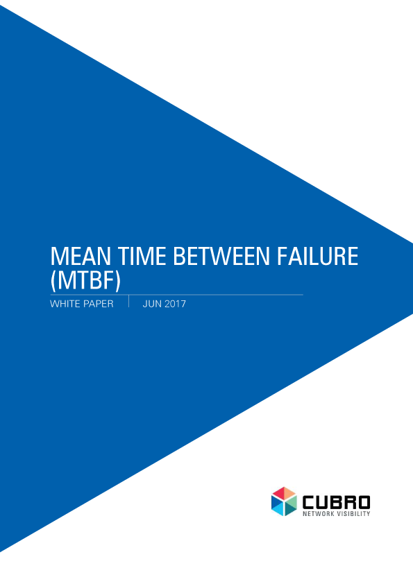 White Paper: Mean time between Failure (MTBF)