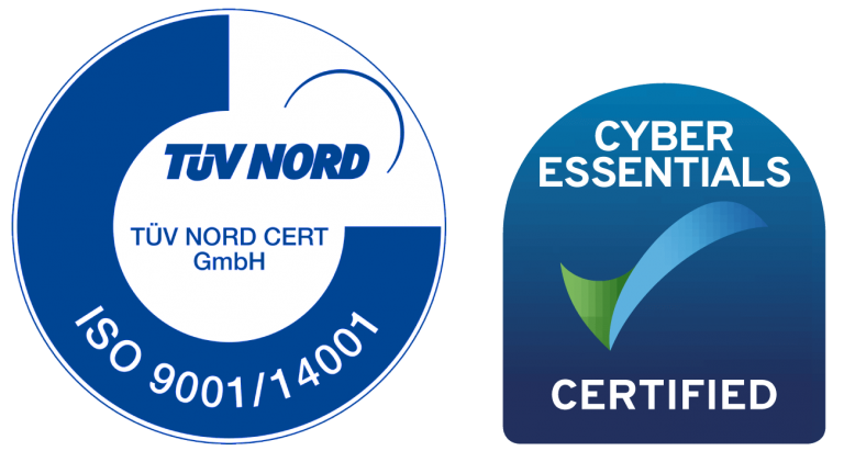 Cubro certification for ISO9001_ISO14001 and Cyber essential UK