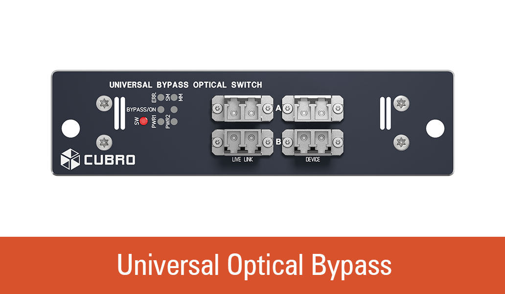 Universal bypass, front view from Cubro